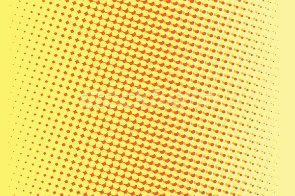 抽象的な 黄色 赤 勾配 ポップアート レトロな ストックフォト © studiostoks