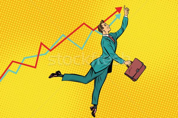 смешные бизнесмен высокий Поп-арт ретро Сток-фото © studiostoks