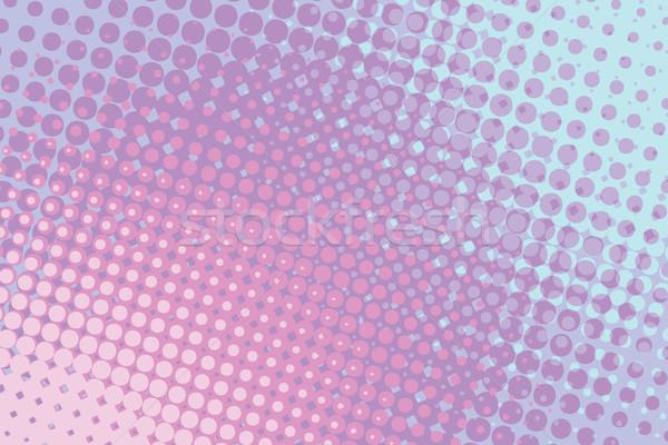 Rouge bleu résumé en demi-teinte dessinées pop art Photo stock © studiostoks