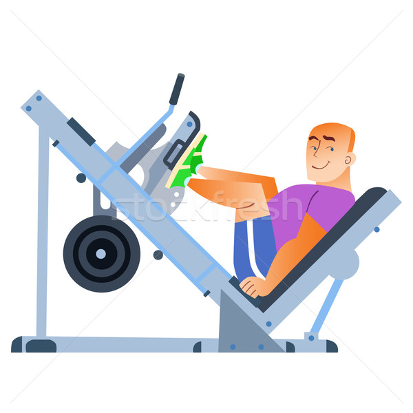 Sporting a bald man has been in the gym Stock photo © studiostoks