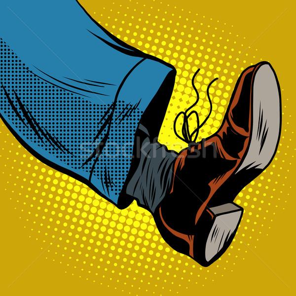 Human foot with Shoe Stock photo © studiostoks