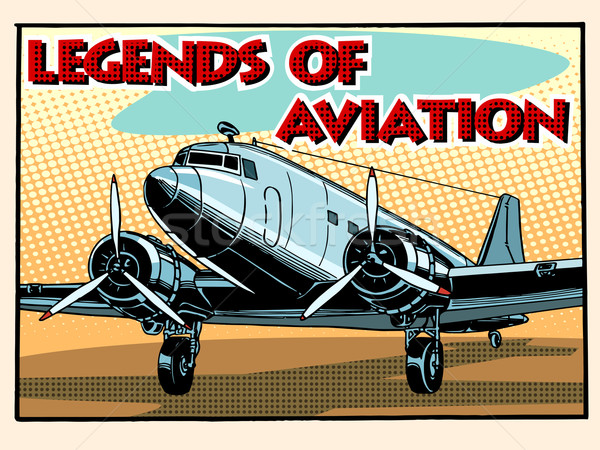 Aviation résumé rétro avion pop art style rétro Photo stock © studiostoks
