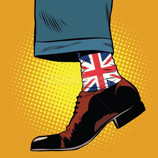 şık çorap İngiliz bayrağı pop art Retro Stok fotoğraf © studiostoks