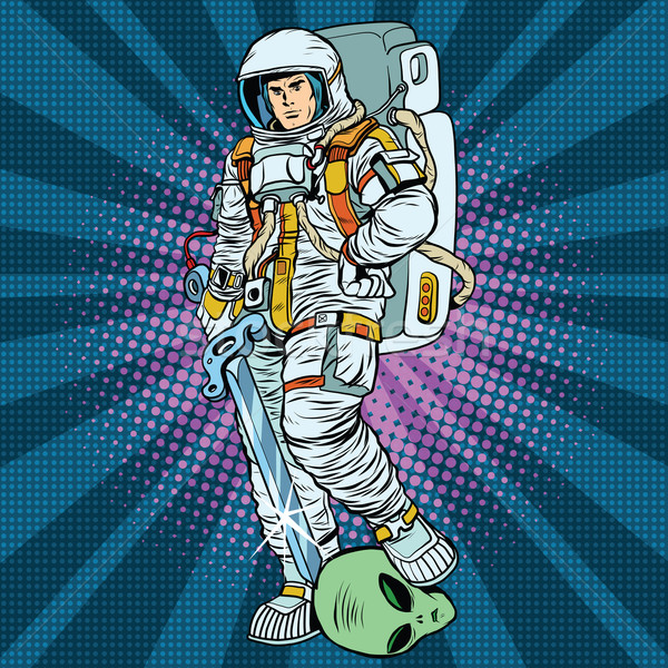 space warrior is the winner alien Stock photo © studiostoks