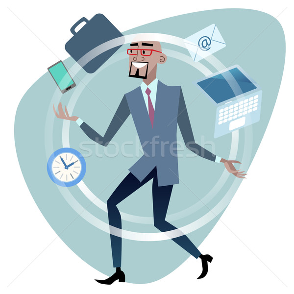 African businessman time management concept juggler Stock photo © studiostoks