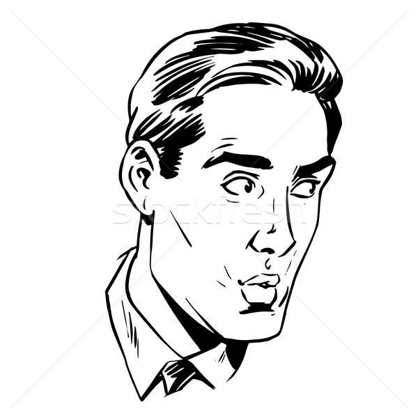 顔 男性 恐怖 不確実性 ストックフォト © studiostoks