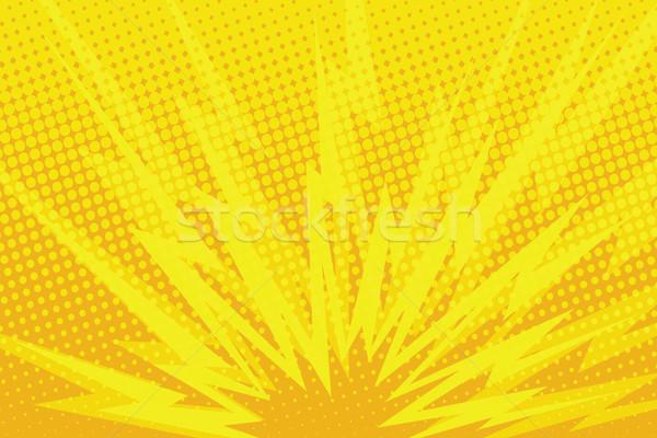 Yellow cartoon blast background Stock photo © studiostoks