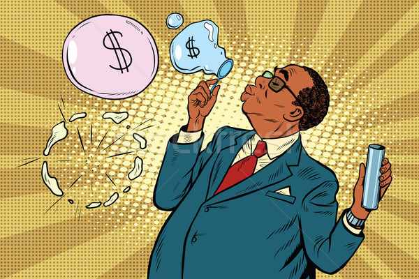 business boss and financial bubbles Stock photo © studiostoks