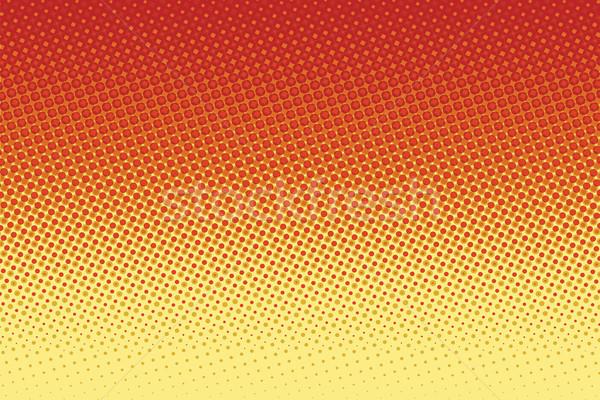 Stockfoto: Rood · Geel · pop · art · halftoon · retro · zonsondergang