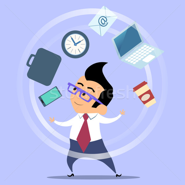 Office worker planning time juggler businessman Stock photo © studiostoks