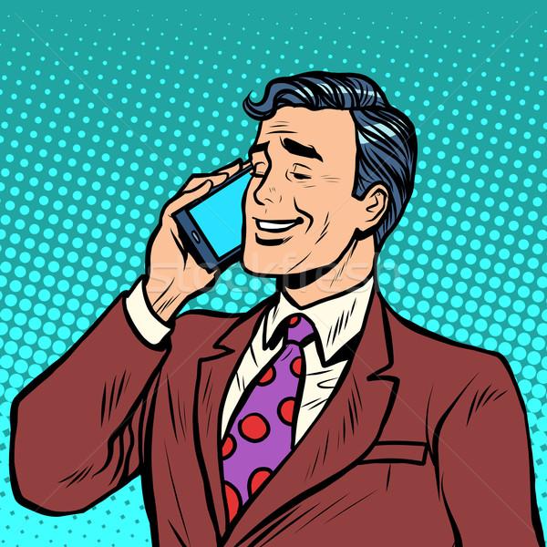 Businessman talking on the phone Stock photo © studiostoks