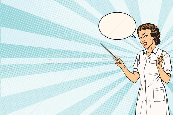 Female doctor medical presentation background Stock photo © studiostoks