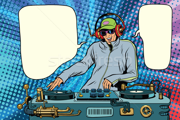 DJ boy party mix music Stock photo © studiostoks