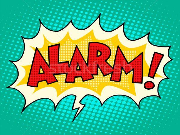 Alarm comic text bubble Stock photo © studiostoks