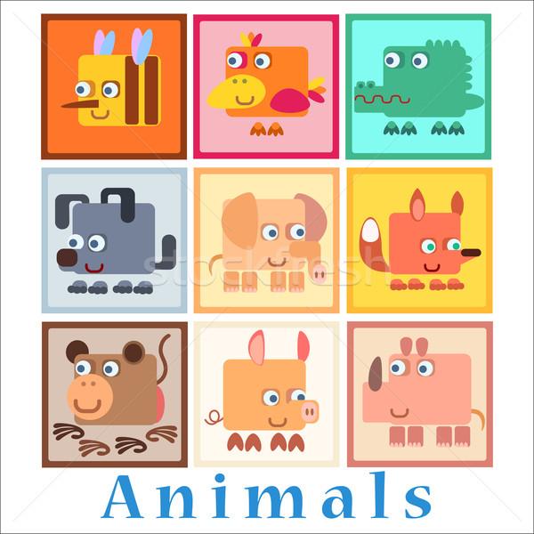 Set animals baby style Stock photo © studiostoks