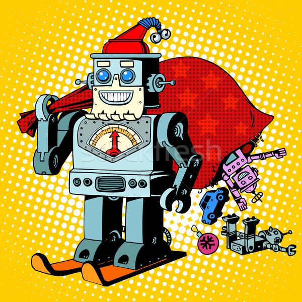 機器人 聖誕老人 聖誕節 禮品 幽默 字符 商業照片 © studiostoks