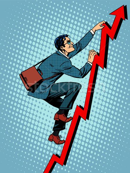 ビジネスマン 登山 アップ スケジュール 販売 ポップアート ストックフォト © studiostoks
