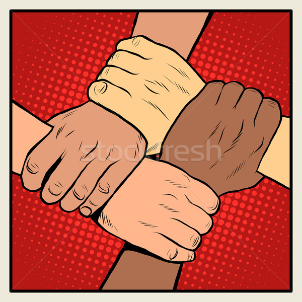 Handshake people of different nationalities and races Stock photo © studiostoks