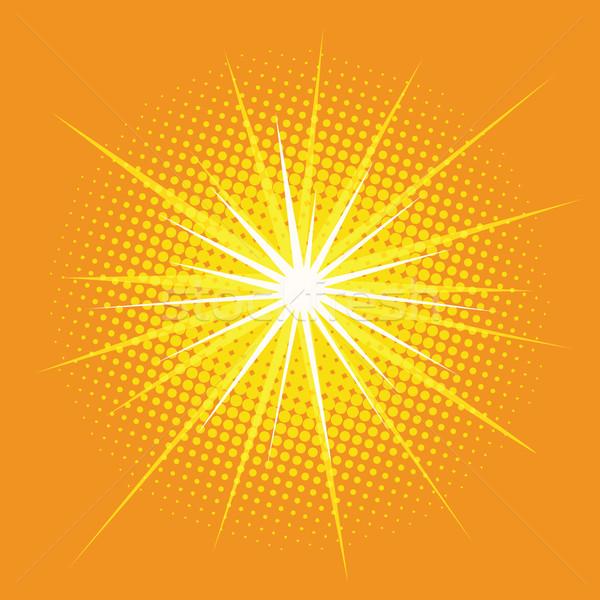Brilhante estrela retro céu Foto stock © studiostoks