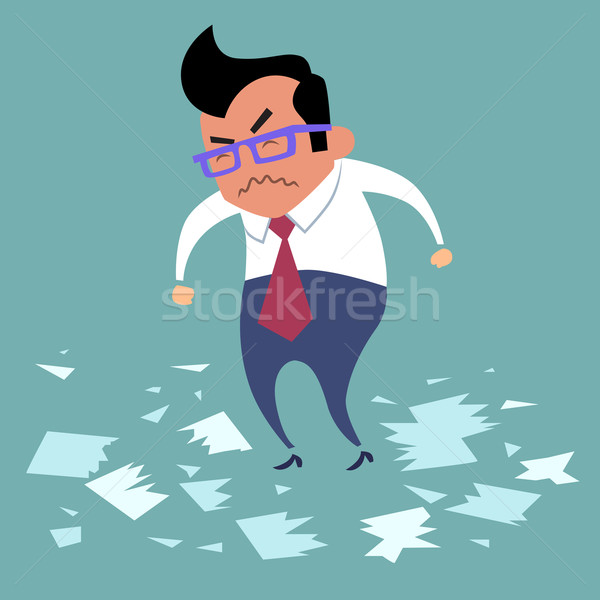 Businessman angry office work boss Stock photo © studiostoks