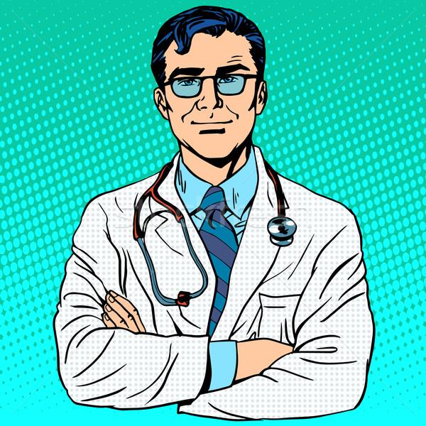 врач терапевт медицина здоровья профессия белый Сток-фото © studiostoks