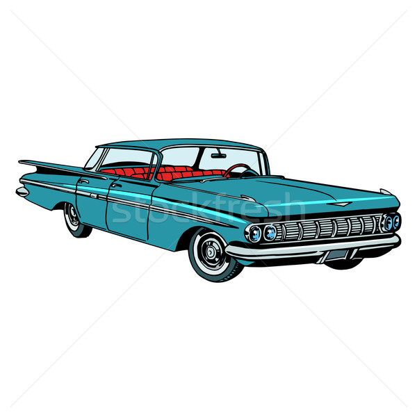 Retro green car classic abstract model Stock photo © studiostoks