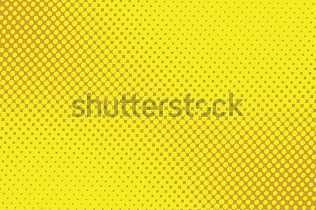 retro comic yellow background raster gradient halftone Stock photo © studiostoks