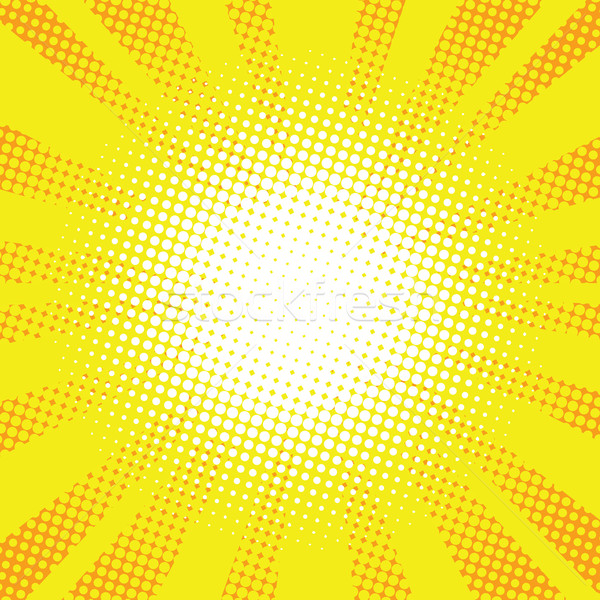 Yellow rays pop art retro comic background Stock photo © studiostoks