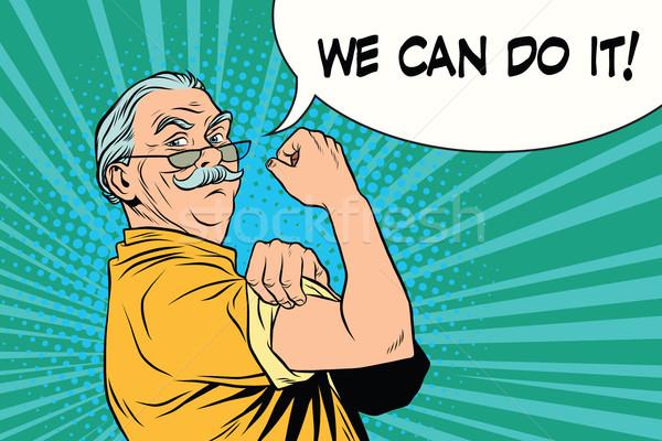 we can do it old man Stock photo © studiostoks