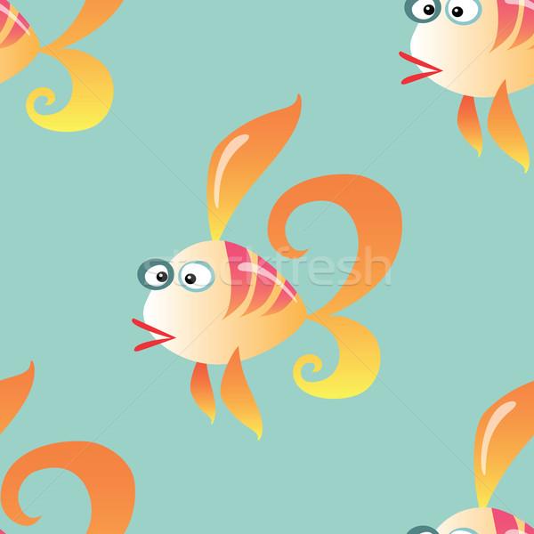 Goldfish marines océan animaux vecteur Photo stock © studiostoks