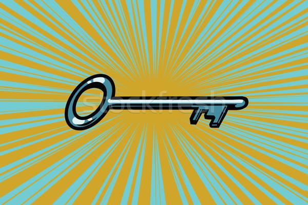 ヴィンテージ ドアの鍵 ポップアート レトロな ビジネス インターネット ストックフォト © studiostoks