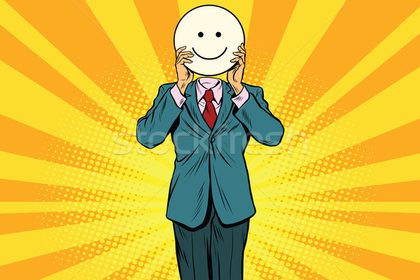 Stock photo: Joy smile Man smiley Emoji face