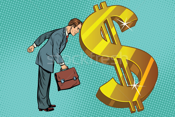 businessman and Finance, the man rested his forehead in dollars Stock photo © studiostoks