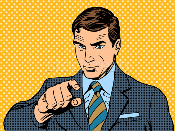 businessman pointing finger chose you Stock photo © studiostoks