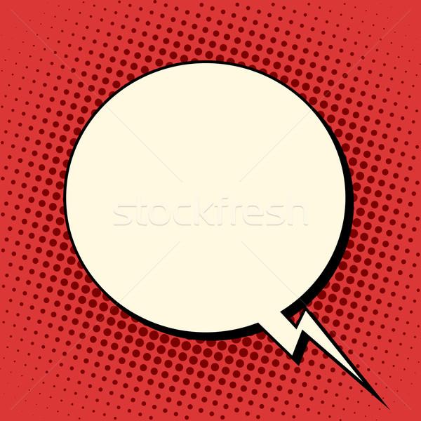 Wolk komische bubble retro tekst pop art Stockfoto © studiostoks