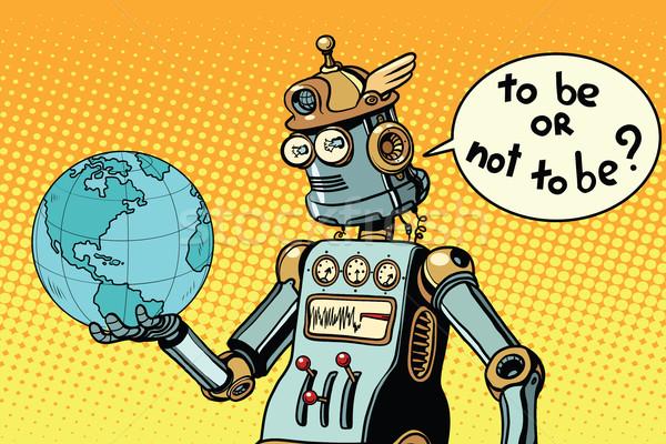 Jour de la terre robot planète terre jour planète pas Photo stock © studiostoks