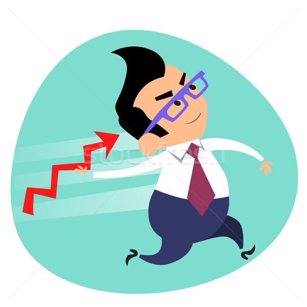 Empresário lança programar de vendas negócio Foto stock © studiostoks