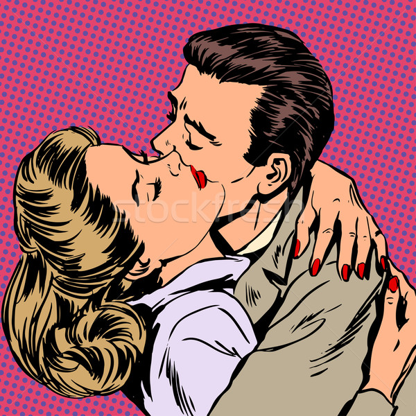 Szenvedély férfi nő átölel szeretet kapcsolat Stock fotó © studiostoks
