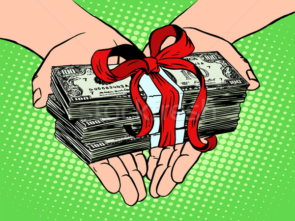 Money as a gift. Financial income Stock photo © studiostoks