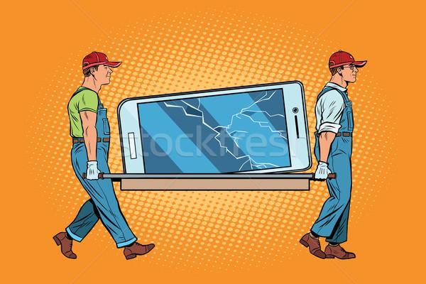 Repair of smartphones broke the screen Stock photo © studiostoks