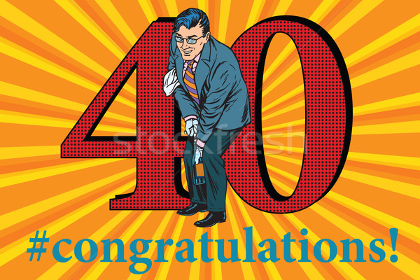 Congratulations 40 anniversary event celebration Stock photo © studiostoks