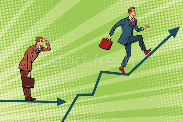 Işadamları çalışma grafik büyüme bakmak ileri Stok fotoğraf © studiostoks