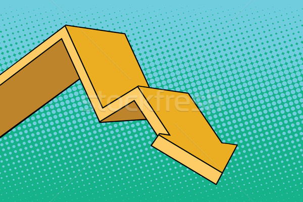 Chart arrow course Stock photo © studiostoks