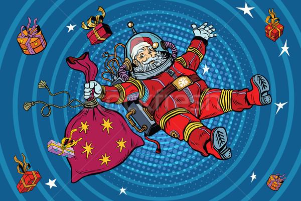 пространстве Дед Мороз нулевой гравитация Рождества подарки Сток-фото © studiostoks