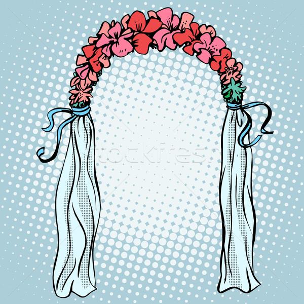 Wedding gate for the betrothal Stock photo © studiostoks