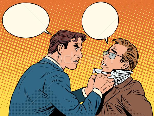 конфликт мужчин борьбе ссориться бизнесмен Поп-арт Сток-фото © studiostoks