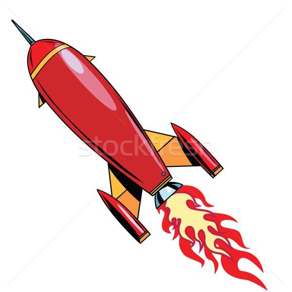 Retro rocket soars up Stock photo © studiostoks