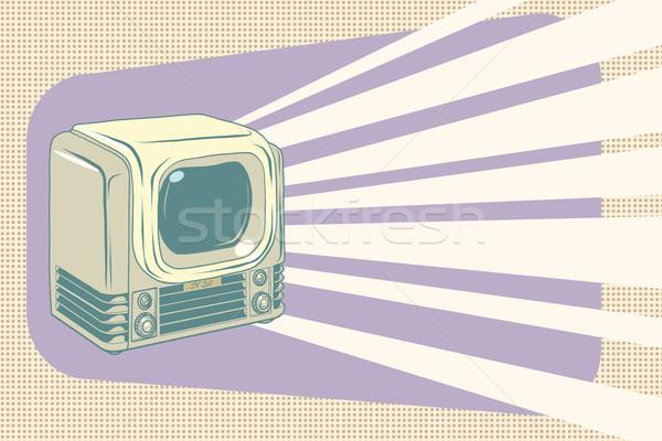 retro television vintage illustration Stock photo © studiostoks