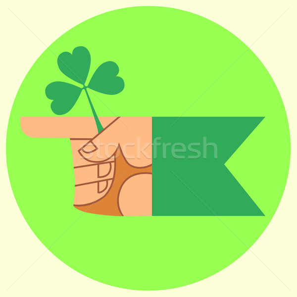 cursor on the festival day of Patrick hand and Shamrock Stock photo © studiostoks