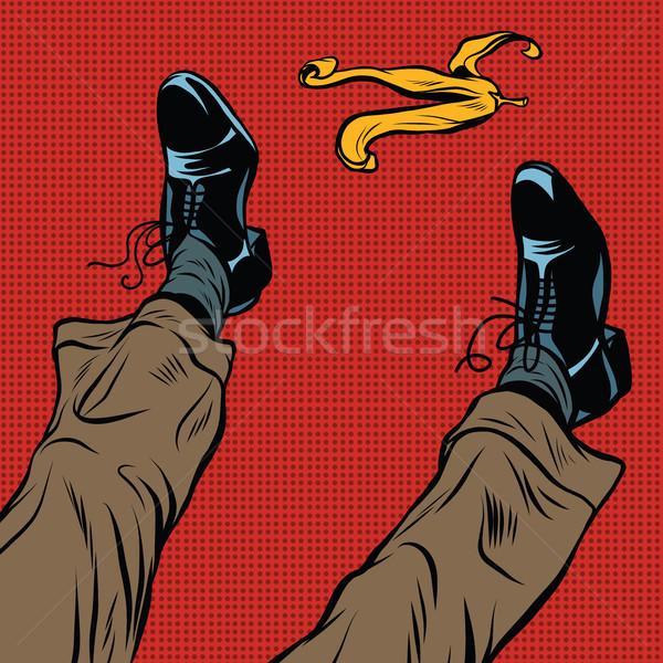Slipping on the banana Stock photo © studiostoks